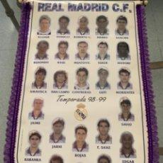 Coleccionismo deportivo: BANDERÍN REAL MADRID 98 - 99. Lote 296623493