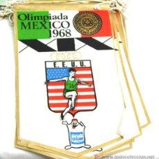 Coleccionismo deportivo: BANDERIN OLIMPIADA DE MEXICO 1968 - EEUU. Lote 4825374