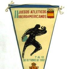 Coleccionismo deportivo: BANDERÍN JUEGOS ATLÉTICOS IBEROAMERICANOS MADRID OCTUBRE 1962. Lote 19997341