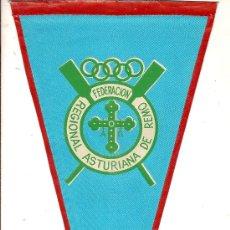 Coleccionismo deportivo: BANDERIN FEDERACION REGIONAL ASTURIANA DE REMO. 28 X 13 CM.. Lote 8639046