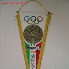 Coleccionismo deportivo: BANDERIN - XIX OLIMPIADAS - MEXICO 1968. Lote 24490498