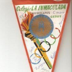 Coleccionismo deportivo: BANDERIN COLEGIO LA INMACULADA PADRES ESCOLAPIOS.GETAFE.AÑOS 60.. Lote 24380673