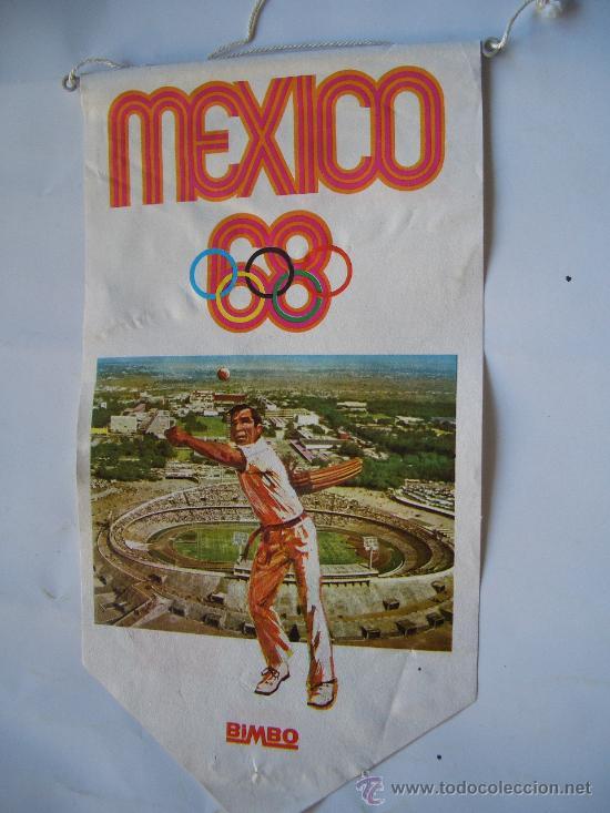 BANDERIN BIMBO OLIMPIADA MEXICO 68 (Coleccionismo Deportivo - Banderas y Banderines otros Deportes)