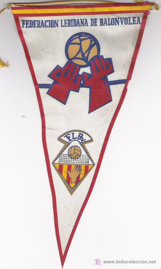 BANDERIN FED. LERIDANA DE BALON VOLEA AÑOS 60 (Coleccionismo Deportivo - Banderas y Banderines otros Deportes)