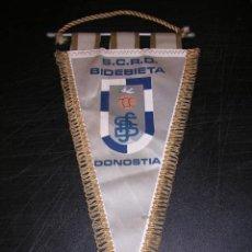 Coleccionismo deportivo: BANDERIN SCRD BIDEBIETA DONOSTIA . Lote 17041619