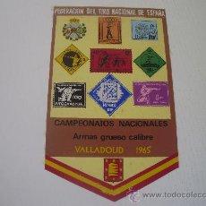 Coleccionismo deportivo: BANDERIN DE LA FEDERACION DE TIRO NACIONAL DE ESPAÑA - CAMPEONATOS NACIONALES - VALLADOLID 1.965. Lote 25282558