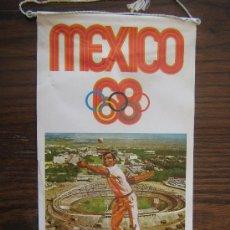 Coleccionismo deportivo: BANDERIN DE PAISES QUE SE HAN CELEBRADO LAS OLIMPIADAS AÑO1968 MEXICO MIREN FOTOS ES EL MISMO. Lote 22245479