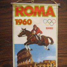 Coleccionismo deportivo: BANDERIN DE PAISES QUE SE HAN CELEBRADO LAS OLIMPIADAS AÑO1960 ROMA MIREN FOTOS ES EL MISMO. Lote 22245515