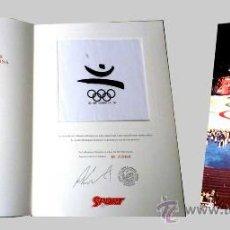 Coleccionismo deportivo: BANDERA (PORCION) ORIGINAL OLIMPIADA BARCELONA '92. Lote 120356776