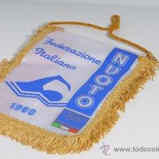Coleccionismo deportivo: BANDERIN FEDERAZIONE ITALIANA NUOTO, 1980. Lote 25372473