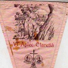 Coleccionismo deportivo: BANDERIN -EXCURSIONISMO DE GRACIA 1955 VI APLEC CLARETIA MATAGALLS COLL PREGON . Lote 25481741