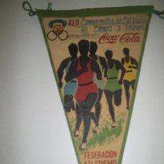 Coleccionismo deportivo: BANDERIN GRAN PREMIO COCA-COLA CAMPEONATO DE CATALUÑA CAMPO A TRAVES 1962 LERIDA. Lote 26913283