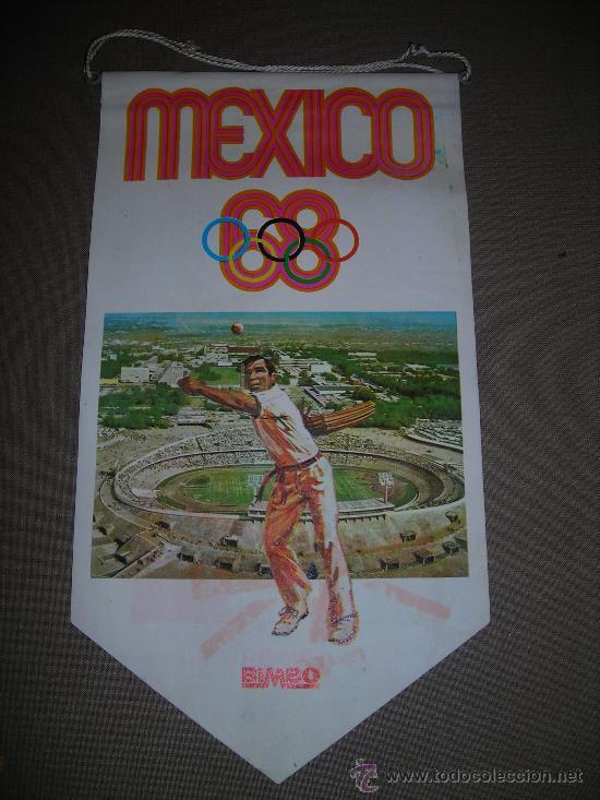 (M-ALB1) BANDERIN BIMBO - OLIMPIADA MEXICO 1968 (Coleccionismo Deportivo - Banderas y Banderines otros Deportes)