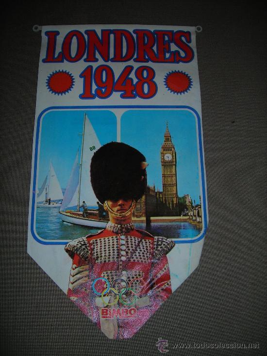(M-ALB1) BANDERIN BIMBO - OLIMPIADA LONDRES 1948 (Coleccionismo Deportivo - Banderas y Banderines otros Deportes)