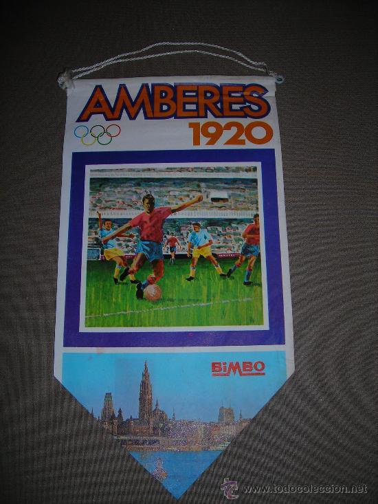 (M-ALB1) BANDERIN BIMBO - OLIMPIADA AMBERES 1920 (Coleccionismo Deportivo - Banderas y Banderines otros Deportes)