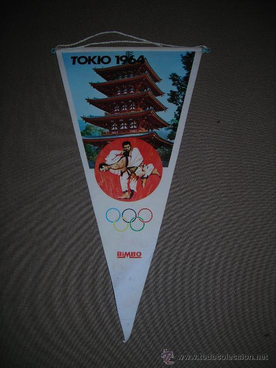 (M-ALB1) BANDERIN BIMBO - OLIMPIADA TOKIO 1964 (Coleccionismo Deportivo - Banderas y Banderines otros Deportes)