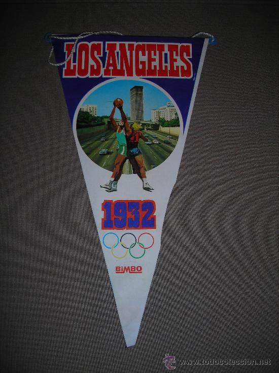 (M-ALB1) BANDERIN BIMBO - OLIMPIADA LOS ANGELES 1932 (Coleccionismo Deportivo - Banderas y Banderines otros Deportes)