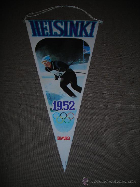 (M-ALB1) BANDERIN BIMBO - OLIMPIADA HELSINKI 1952 (Coleccionismo Deportivo - Banderas y Banderines otros Deportes)