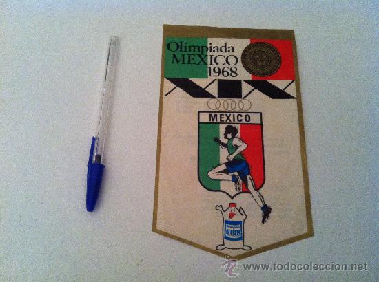 ANTIGUO BANDERIN EN PAPEL DE LAS OLIMPIADAS DE MEXICO 68. DE GIOR. (Coleccionismo Deportivo - Banderas y Banderines otros Deportes)