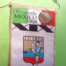 Coleccionismo deportivo: BANDERIN DE LAS OLIMPIADAS DE MEXICO DEL AÑO 1.968. Lote 30460574
