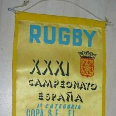 Coleccionismo deportivo: BANDERIN XXXI CAMPEONATO ESPAÑA 1ª CATEGORA COPA S.E EL GENERALISIMO PAMPLONA 1964. Lote 33684572
