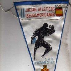 Coleccionismo deportivo: BANDERIN II JUEGOS ATLETICOS IBEROAMERICANOS. 1962 MADRID.. Lote 33815395