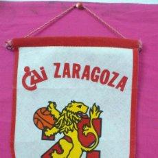 Coleccionismo deportivo: ANTIGUO BANDERIN BALONCESTO BASKET CAI ZARAGOZA AÑOS 70. Lote 104695088