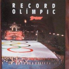 Coleccionismo deportivo: RECUERDO OLIMPICO EDICION ESPECIAL PARA LOS VOLUNTARIOS OLIMPIADAS BARCELONA 1992 TROZO DE VANDERA . Lote 35964329