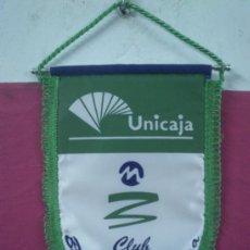 Coleccionismo deportivo: BANDERIN BALONCESTO CLUB MALAGA UNICAJA. Lote 36825132
