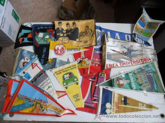 16 BANDERINES DE LOS AÑOS 50 Y 60 DE HUELVA Y VARIOS (Coleccionismo Deportivo - Banderas y Banderines otros Deportes)