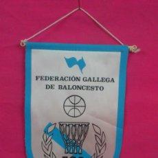 Coleccionismo deportivo: BANDERIN FEDERACION GALLEGA DE BALONCESTO. F.G.B. BASKET.. . Lote 37868152