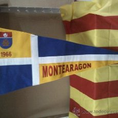 Coleccionismo deportivo: BANDERIN COLEGIO DE FOMENTO MONTEARAGON ZARAGOZA 1966. Lote 38434102