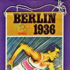 Coleccionismo deportivo: BANDERIN - OLIMPIADA BERLIN 1936 - PUBLICIDAD DE BIMBO - AÑO 1968 - RD27. Lote 39772655