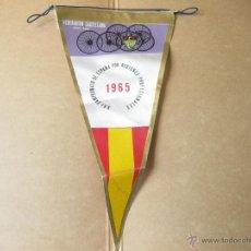 Coleccionismo deportivo: BANDERIN DE LA FEDERACION CASTELLANA DE CICLISMO - XXI CAMPEONATO DE ESPAÑA POR REGIONES - 1965. Lote 82799795