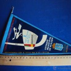 Coleccionismo deportivo: (BA-105)BANDERIN TORNEO INTERNACIONAL DE HOCKEY SOBRE PATINES,INAGURACION RIAZOR, AGOSTO 1960. Lote 40894519
