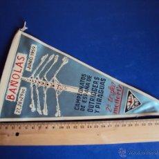 Coleccionismo deportivo: (BA-106)BANDERIN CAMPEONATOS DE ESPAÑA DE OUTRIGGERS Y PIRAGUAS,JUNIO 1959,BAÑOLAS. Lote 40894626
