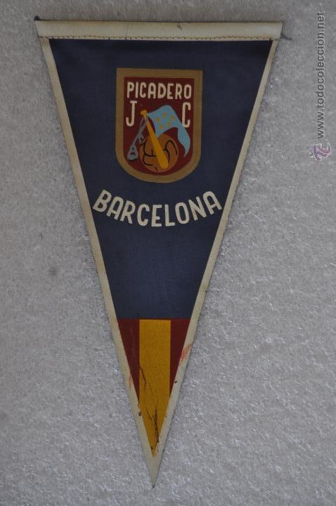 BANDERIN DE PICADERO JC. BARCELONA (Coleccionismo Deportivo - Banderas y Banderines otros Deportes)