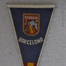 Coleccionismo deportivo: BANDERIN DE PICADERO JC. BARCELONA. Lote 41379538