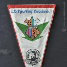 Coleccionismo deportivo: BANDERIN C.D. SPORTING SALESIANO. BALONMANO. ALICANTE. Lote 41395849
