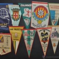 Coleccionismo deportivo: LOTE DE 9 BANDERINES DE BALONMANO. CLUBES Y FEDERACIONES. Lote 41397066