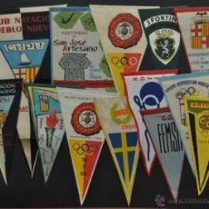 Coleccionismo deportivo: LOTE DE 12 BANDERINES DEPORTIVOS. Lote 41397966
