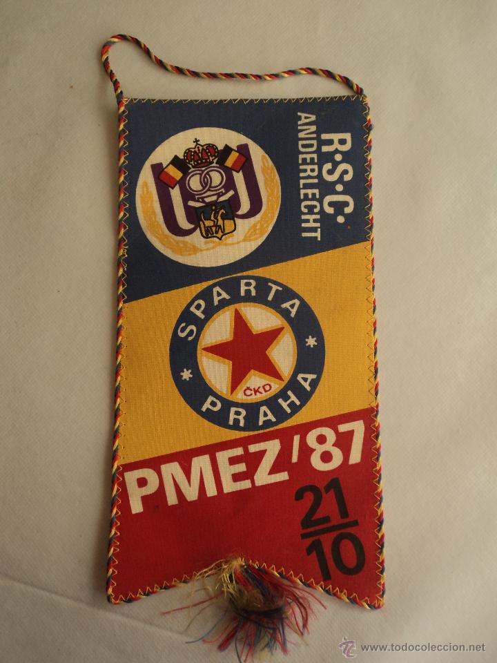 ANDERLECHT-SPARTA PRAGA. PMEZ'87 24X12 (Coleccionismo Deportivo - Banderas y Banderines otros Deportes)