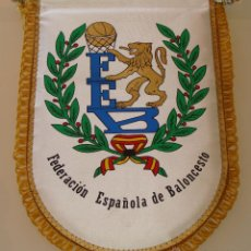 Coleccionismo deportivo: BANDERÍN DE LA FEDERACIÓN ESPAÑOLA DE BALONCESTO. BASKET ESPAÑA. 31 X 23 CM. Lote 42455442