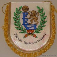 Coleccionismo deportivo: BANDERÍN DE LA FEDERACIÓN ESPAÑOLA DE BALONCESTO. BASKET ESPAÑA. 10 X 13 CM. Lote 42455460
