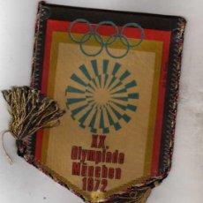 Coleccionismo deportivo: BANDERIN OLIMPIADAS DE MUNICH 1972. SOLO BANDERIN 14 CM. Lote 42523304