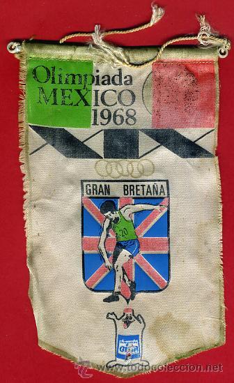 BANDERIN , OLIMPIADA MEXICO 1968 , ORIGINAL ANTIGUO (Coleccionismo Deportivo - Banderas y Banderines otros Deportes)