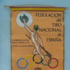 Coleccionismo deportivo: BANDERIN : FEDERACION DEL TIRO NACIONAL DE ESPAÑA , 1964 . GRANADA. Lote 46319666