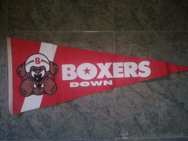 BANDERIN DEL EQUIPO BOXERS DOWN DE BARCELONA DE FUTBOL AMERICANO 1990 (CLUB DESAPARECIDO) (Coleccionismo Deportivo - Banderas y Banderines otros Deportes)