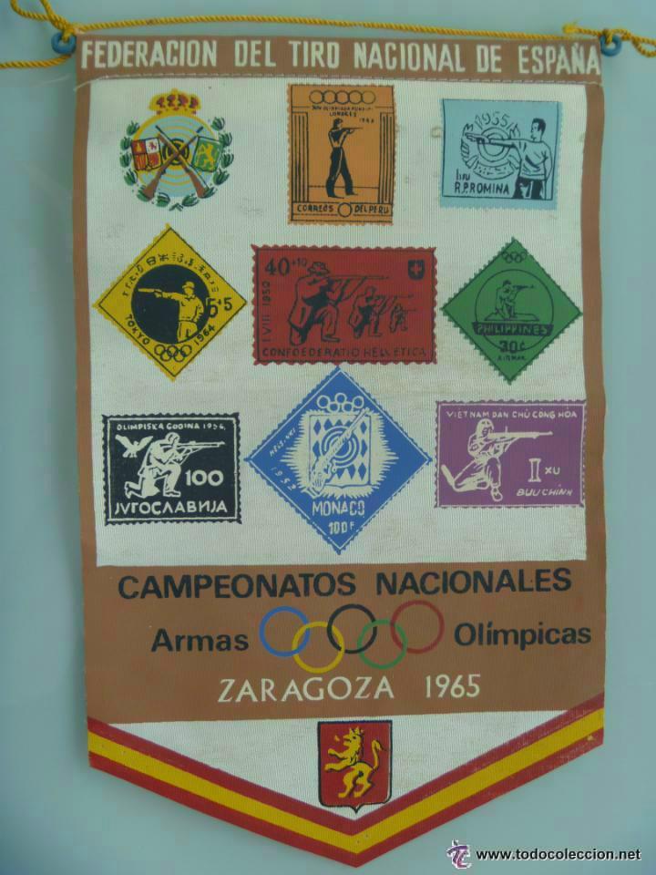 BANDERIN : CAMPEONATOS NACIONALES ARMAS NO OLIMPICAS . ZARAGOZA, 1965 .. (Coleccionismo Deportivo - Banderas y Banderines otros Deportes)