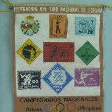Coleccionismo deportivo: BANDERIN : CAMPEONATOS NACIONALES ARMAS NO OLIMPICAS . ZARAGOZA, 1965 ... Lote 49428398